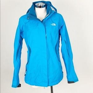 The North Face Turquoise Hyvent Rain Jacket Large